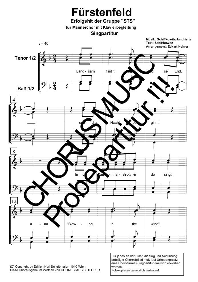 Liedtext Fürstenfeld