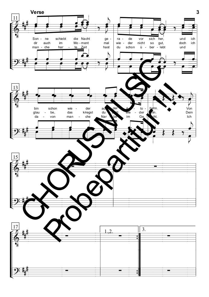 Hallo Guten Morgen Deutschland Singpartitur Männerchor 4 Stimmig